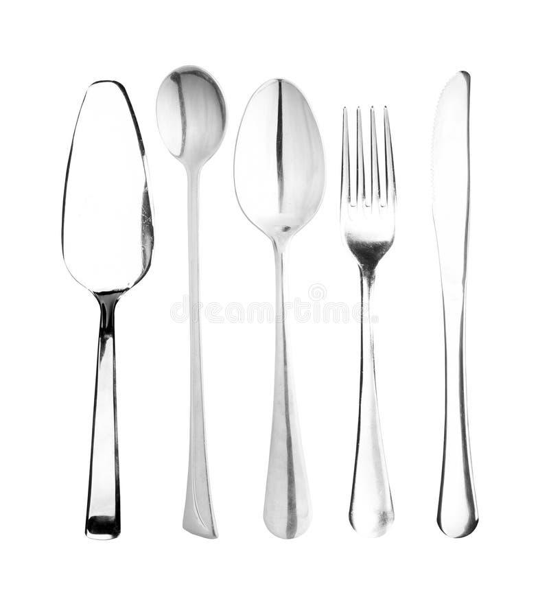 Fork, cuchara, cuchillo fotos de archivo