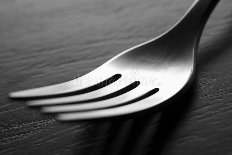Fork de plata imagenes de archivo