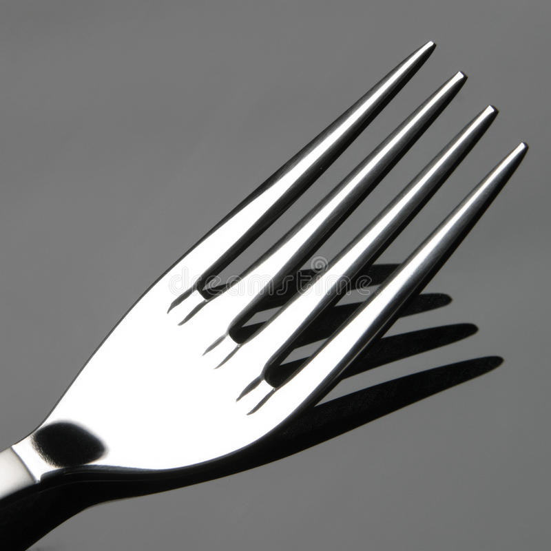 Fork detail stock photography