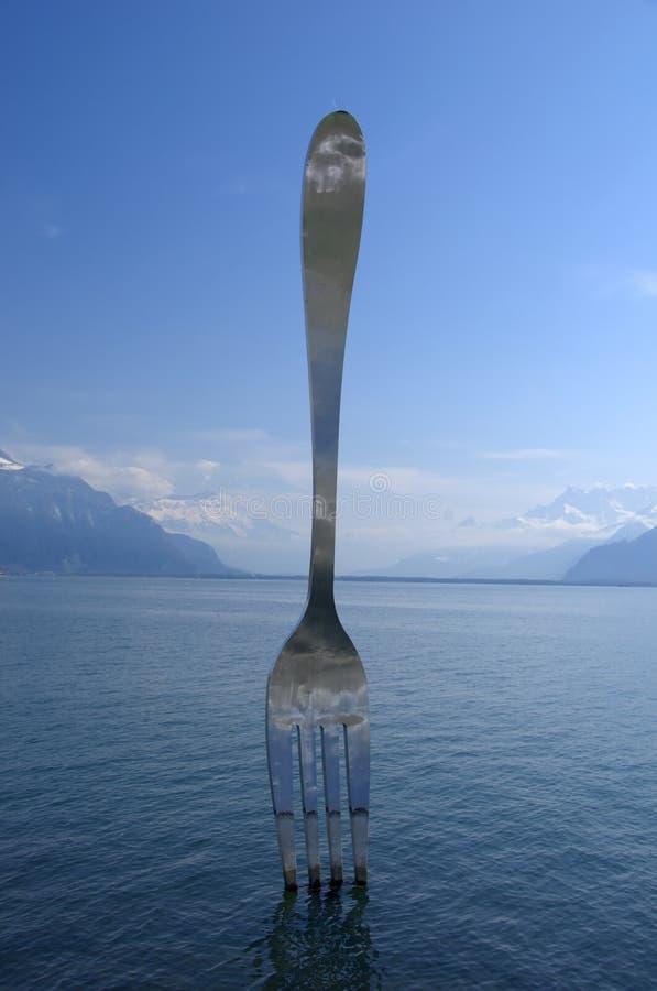 Fork gigante fotos de archivo