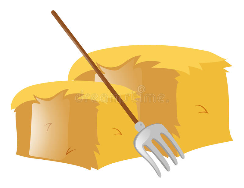 fork and haystack on white stock vector illustration of trident rh dreamstime com
