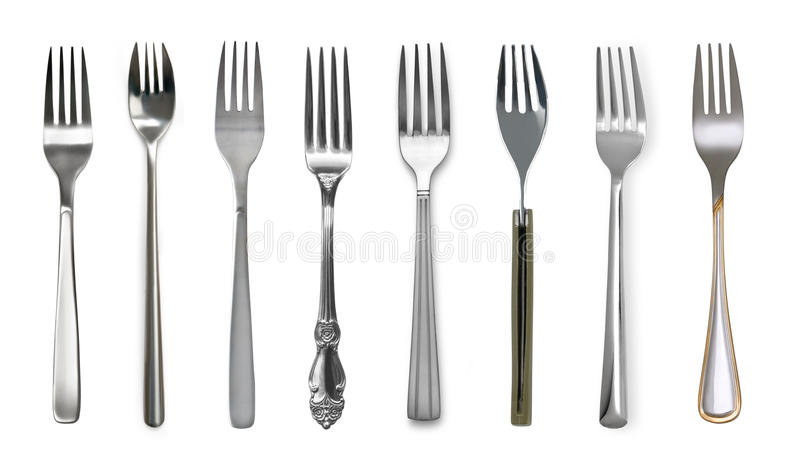 Fork isolated on white royalty free stock image
