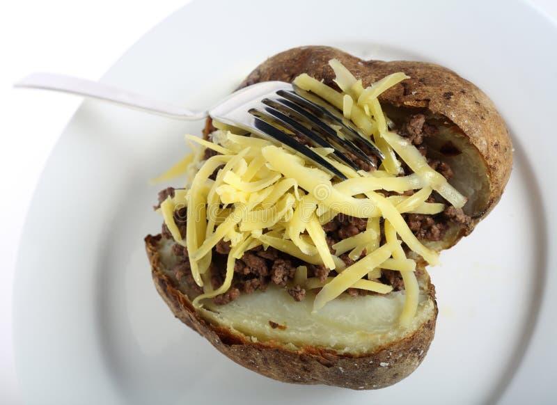 Fork on jacket potato