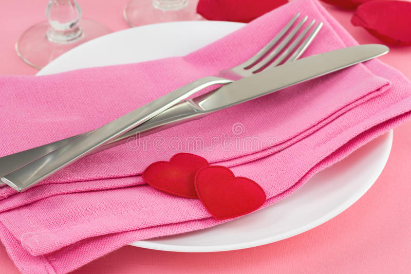 Download Fork with knife stock image. Image of holiday, love, pink - 28529037
