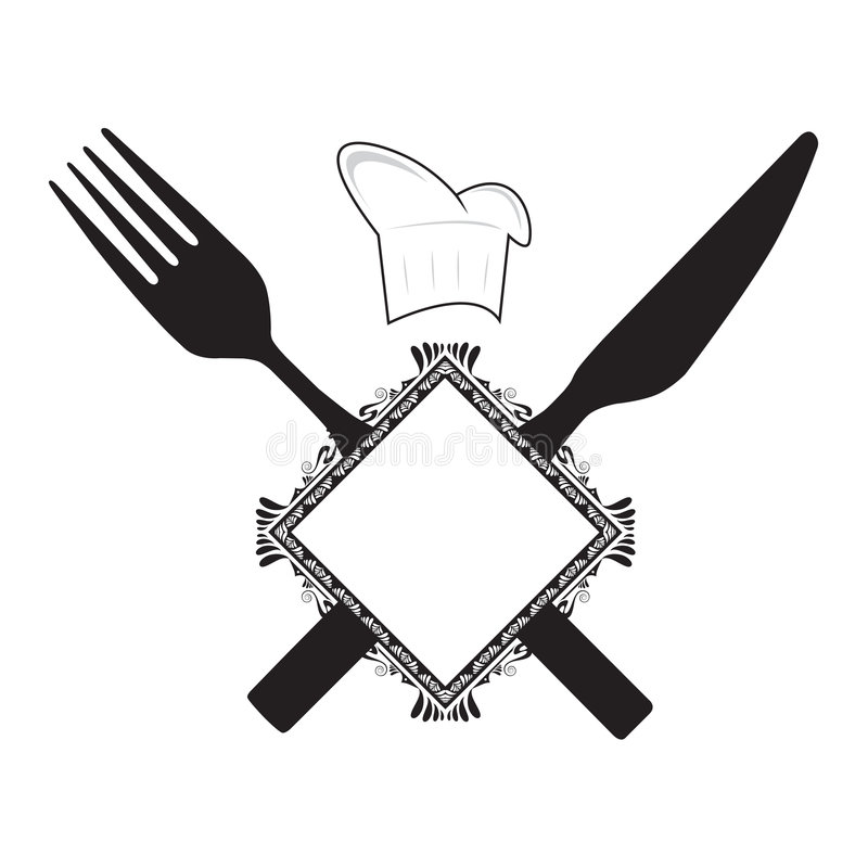 Free Fork, Knife And Chef Hat Stock Image - 8453151