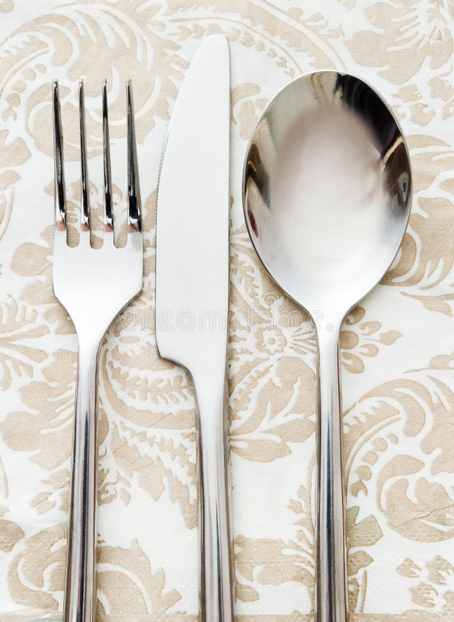 Fork knife and spoon royalty free stock photos