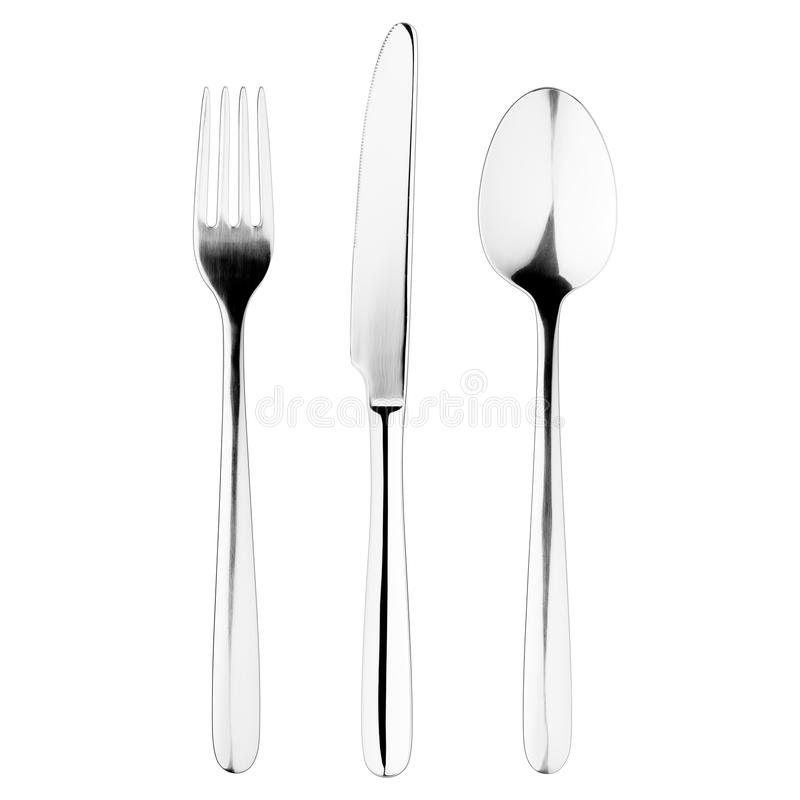 Free Fork, Knife, Spoon, Cutlery On White Stock Images - 124891354