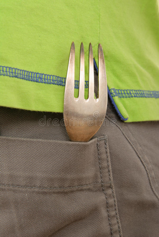 Download Fork lies in pocket stock photo. Image of visible, seen - 12377416