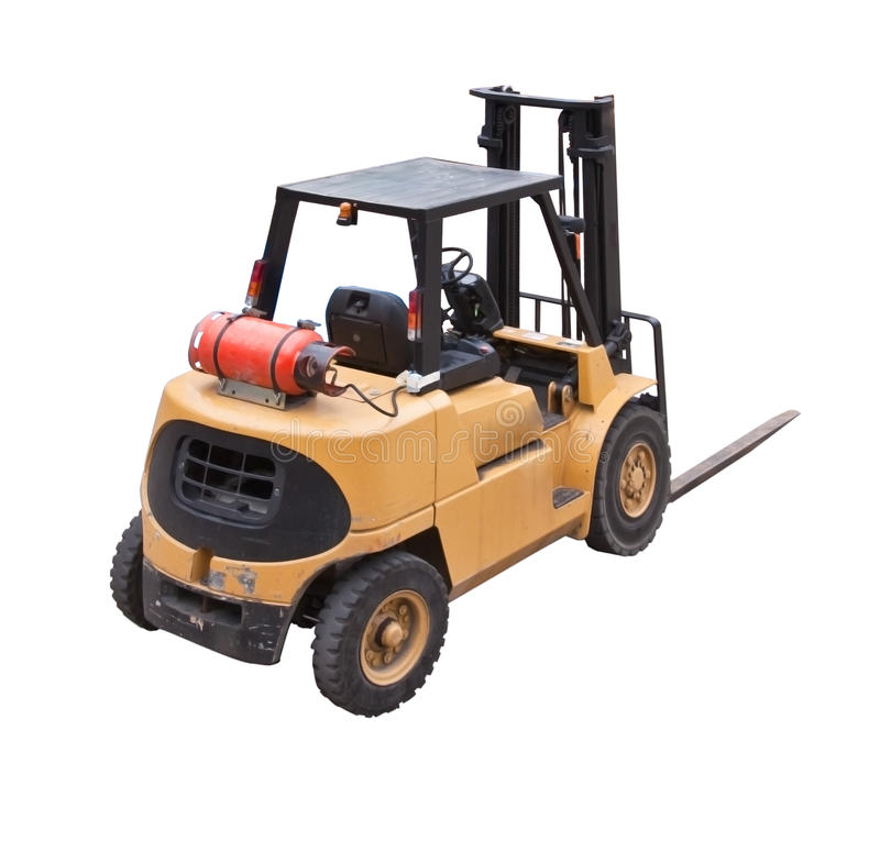 Download Fork lift truck stock illustration. Image of freight - 21606244