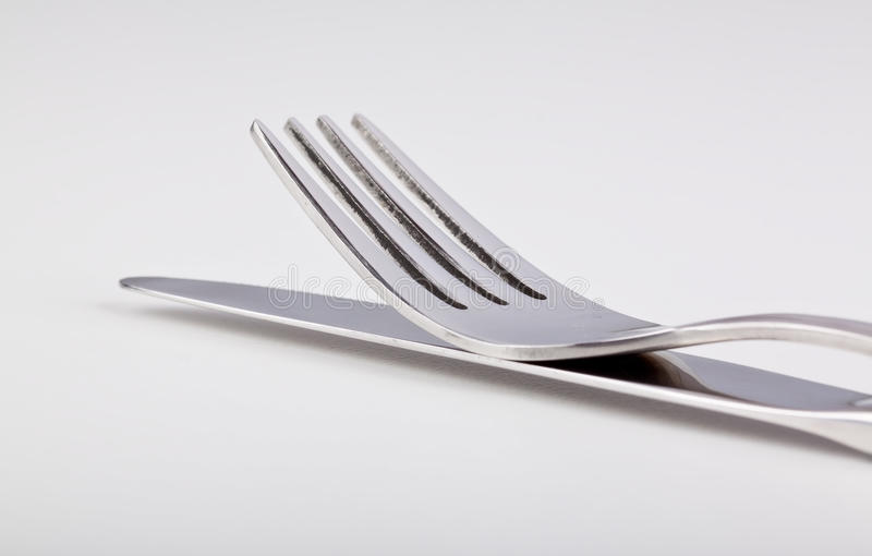 Download Fork Lying On Top Of The Knife Stock Photo - Image of stainless, equipment: 26432212