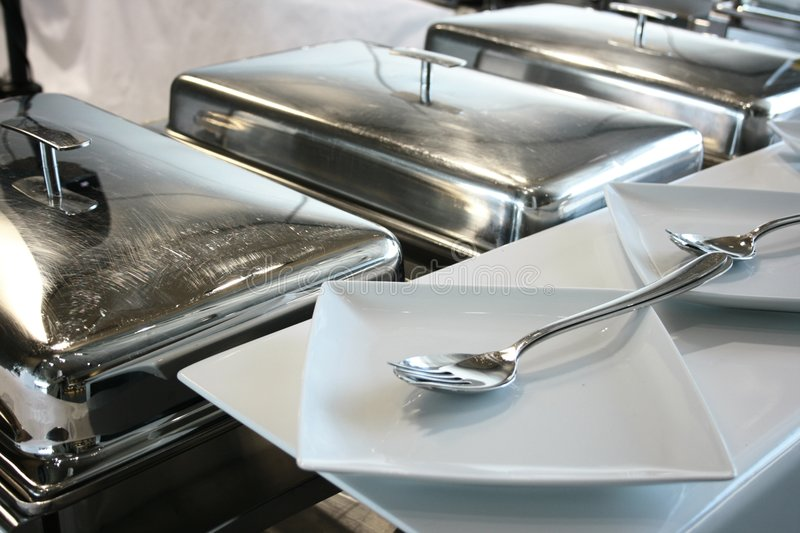 Fork and plate stock images