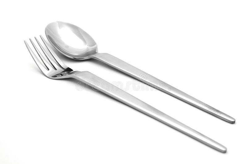Download Fork and spoon stock photo. Image of plate, tool, white - 11797858