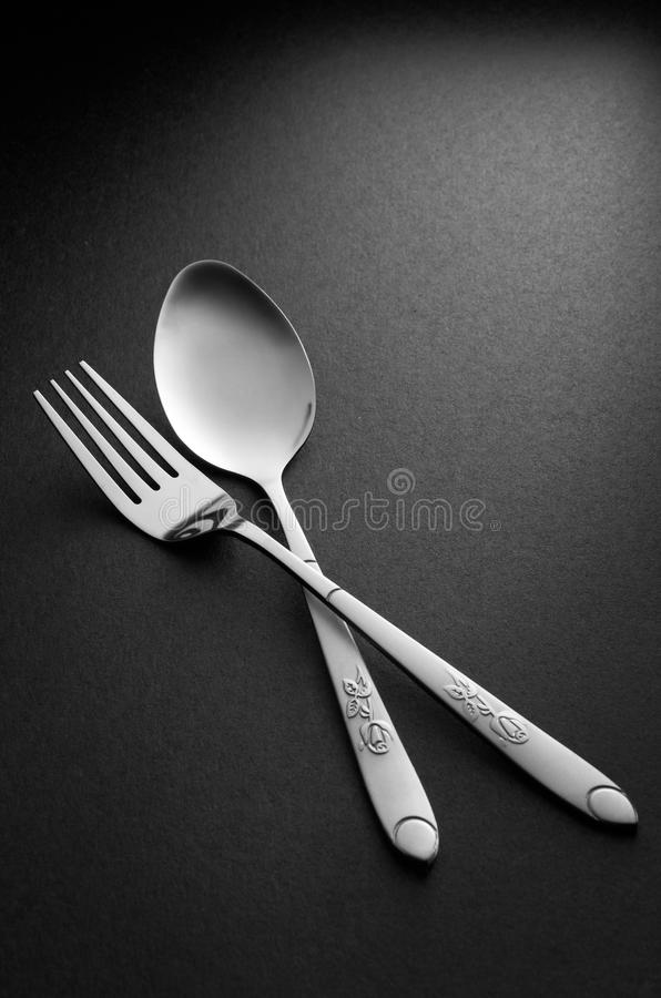 Download Fork And Spoon stock photo. Image of kitchenware, steel - 21787594