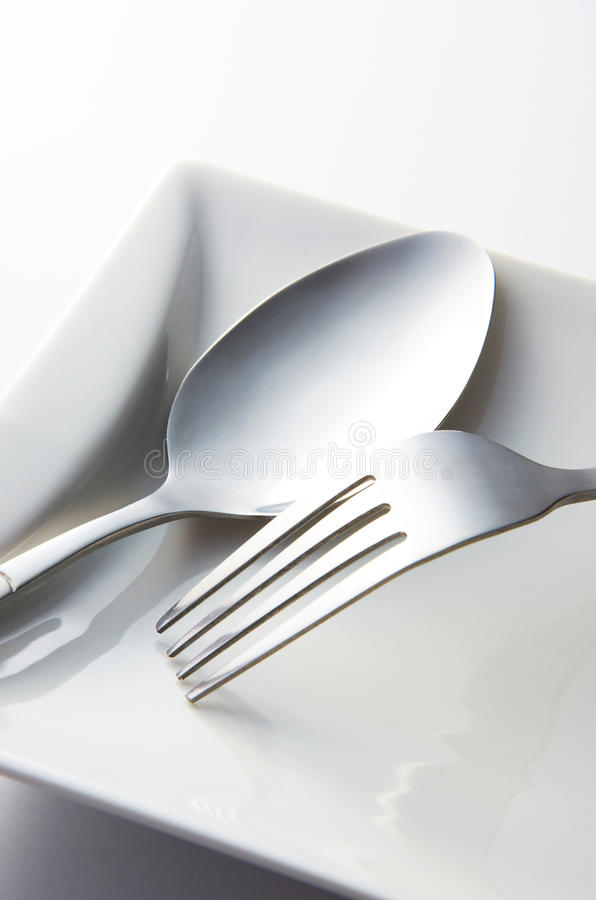 Download Fork And Spoon stock image. Image of macro, background - 21895369