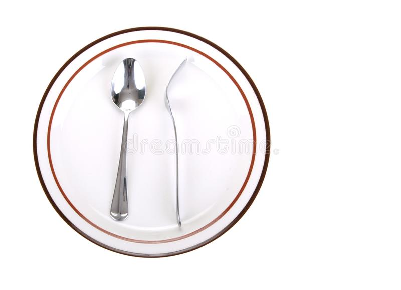 Download Fork And Spoon In Odd Position Stock Image - Image: 3482395