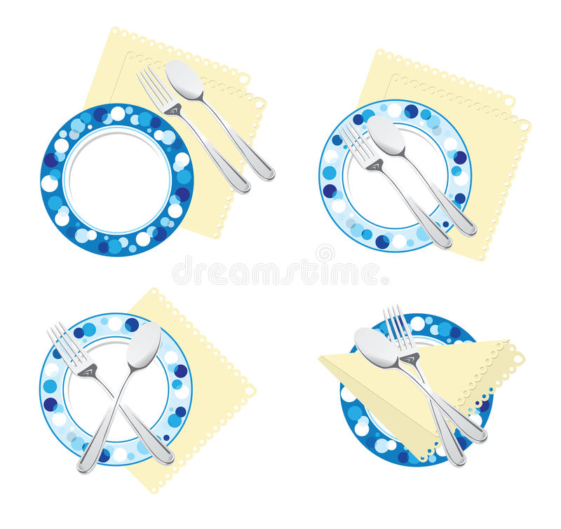 Download Fork spoon plate stock vector. Illustration of dishes - 22641298