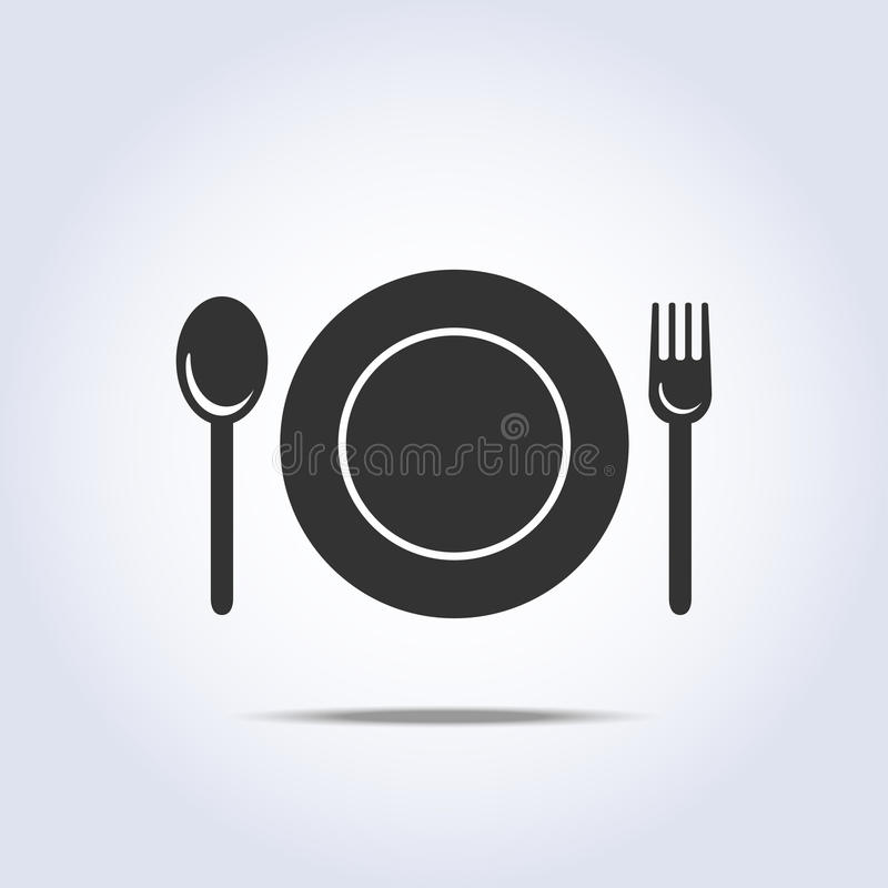 Fork spun plate icon. Fork spun and plate icon in vector vector illustration