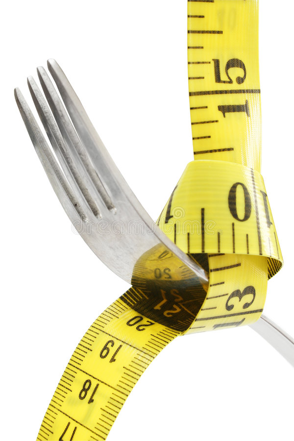 Fork and Tape royalty free stock image