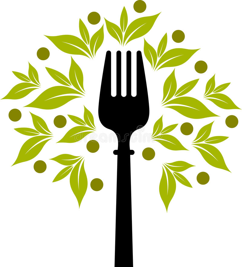 Fork tree logo vector illustration