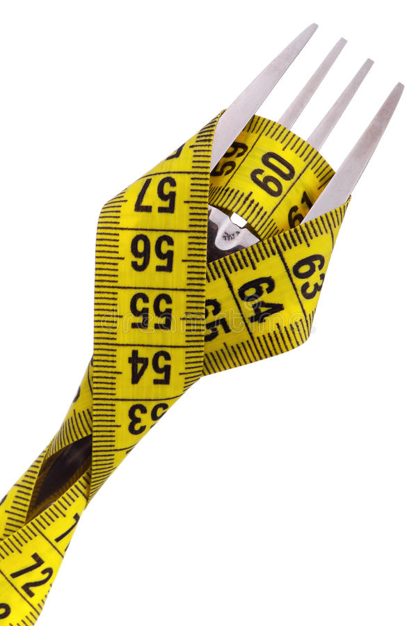 Free Fork With Measure Tape Stock Image - 23747051