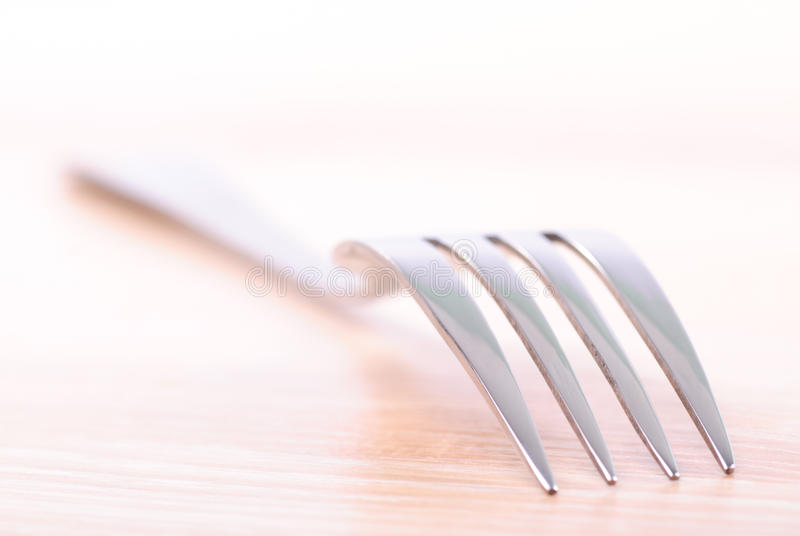 Fork On Wooden Table Stock Photos