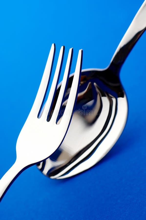 Fork y cuchara fotografía de archivo