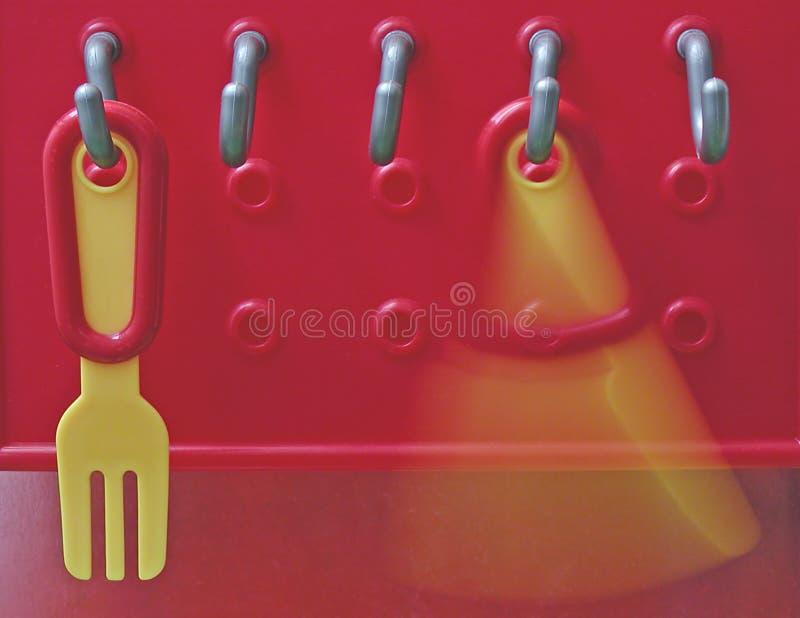Fork y cuchillo plásticos fotos de archivo