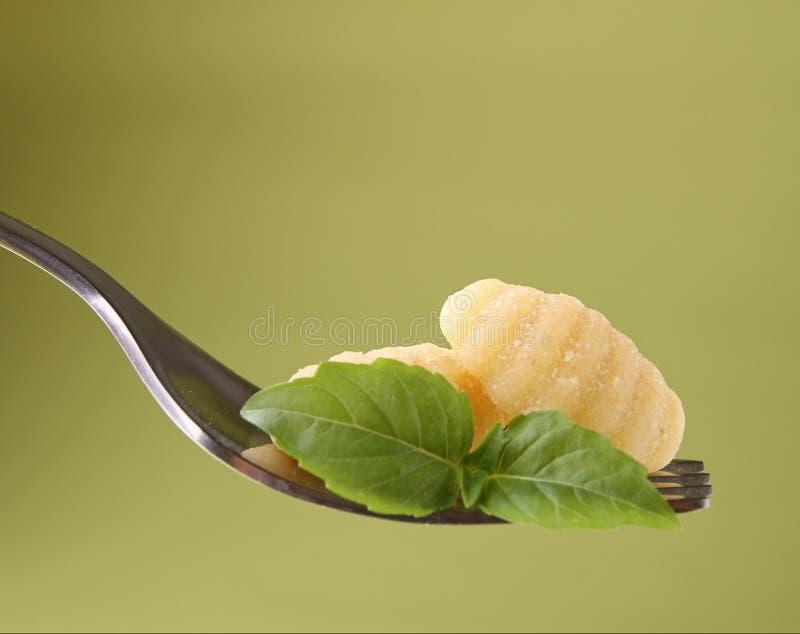 Fork y gnocchi foto de archivo libre de regalías