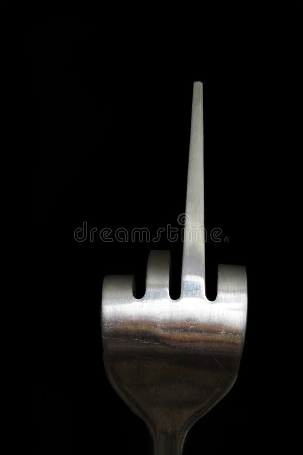 Download Fork You stock image. Image of copy, steel, space, imitate - 4194313
