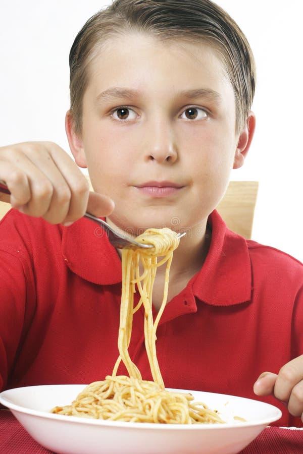 Download Forkful noodles παιδιών στοκ εικόνα. εικόνα από διατροφή - 394689