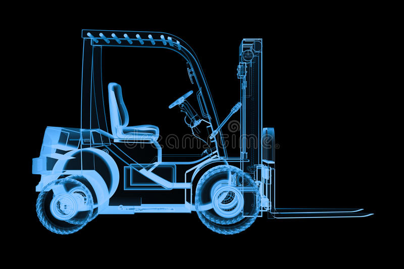 Forklift ακτίνας X φορτηγό στοκ εικόνα με δικαίωμα ελεύθερης χρήσης