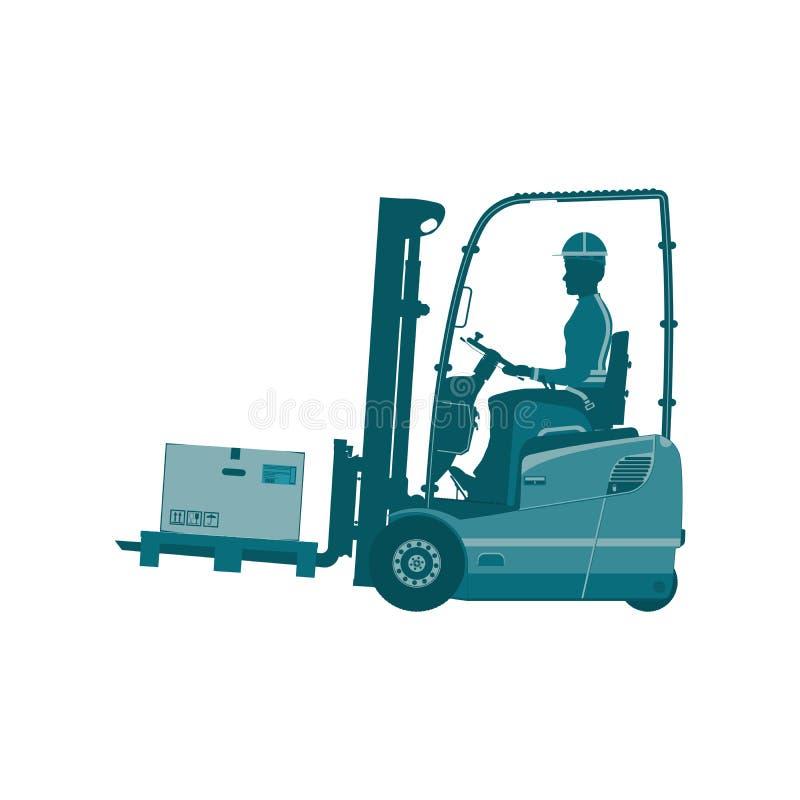 Forklift αποθηκών εμπορευμάτων απεικόνιση αποθεμάτων
