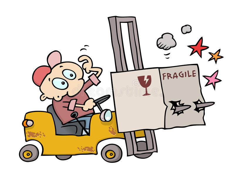 forklift ατυχήματος απεικόνιση αποθεμάτων