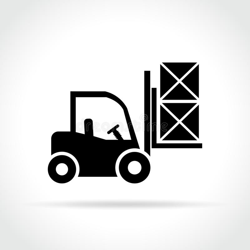 Forklift εικονίδιο στο άσπρο υπόβαθρο ελεύθερη απεικόνιση δικαιώματος