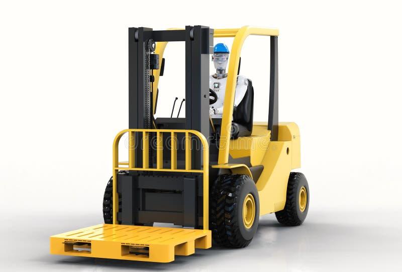 Forklift ελέγχου ρομπότ φορτηγό απεικόνιση αποθεμάτων