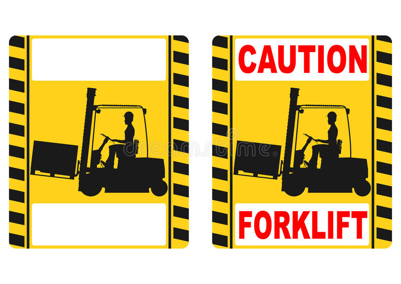 Forklift σημάδι διανυσματική απεικόνιση