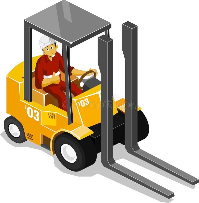 Forklift ilustração stock