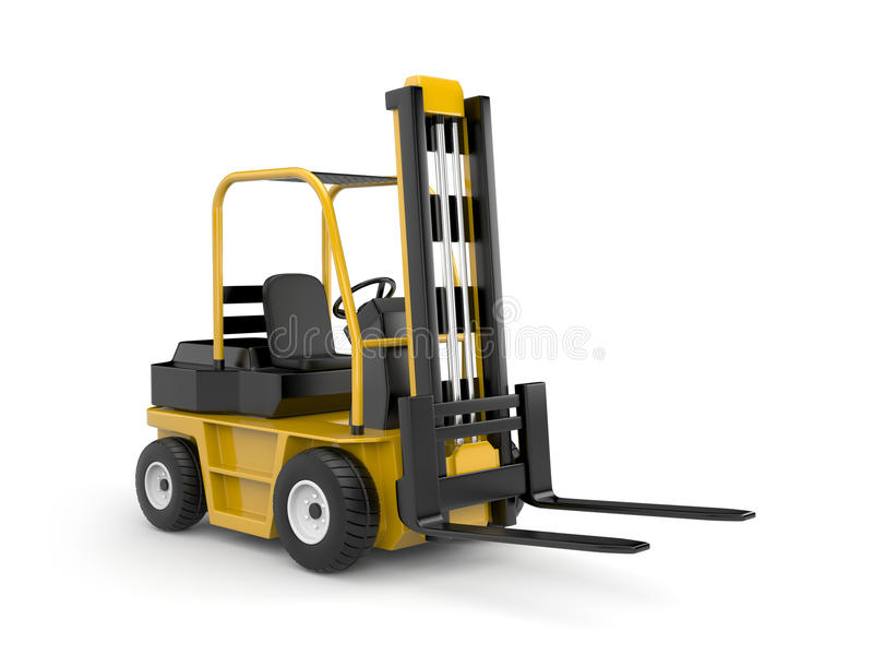 Download Forklift stock illustration. Image of distribution, hoisting - 11887222