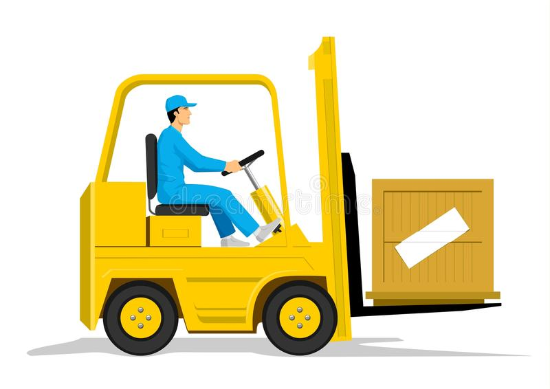 Forklift vector illustration