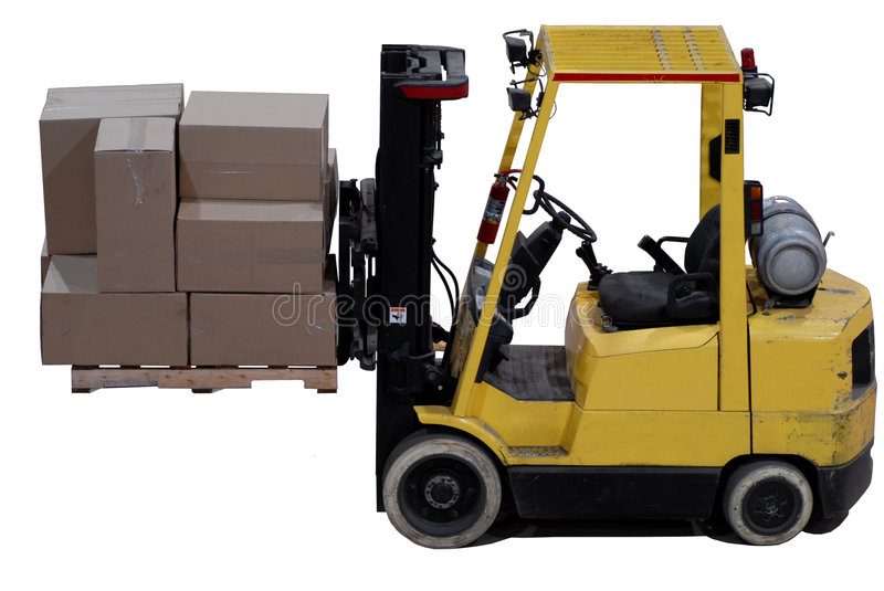 Download Forklift stock image. Image of elevator, shipping, building - 3733177