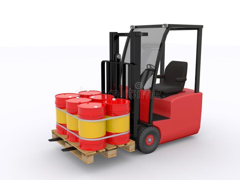 Forklift ilustracji