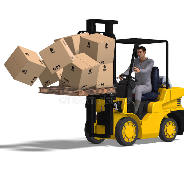 Free Forklift Royalty Free Stock Images - 9569049