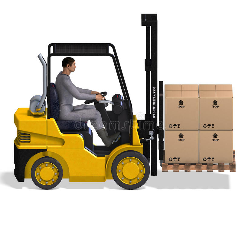 Free Forklift Royalty Free Stock Photos - 9586008