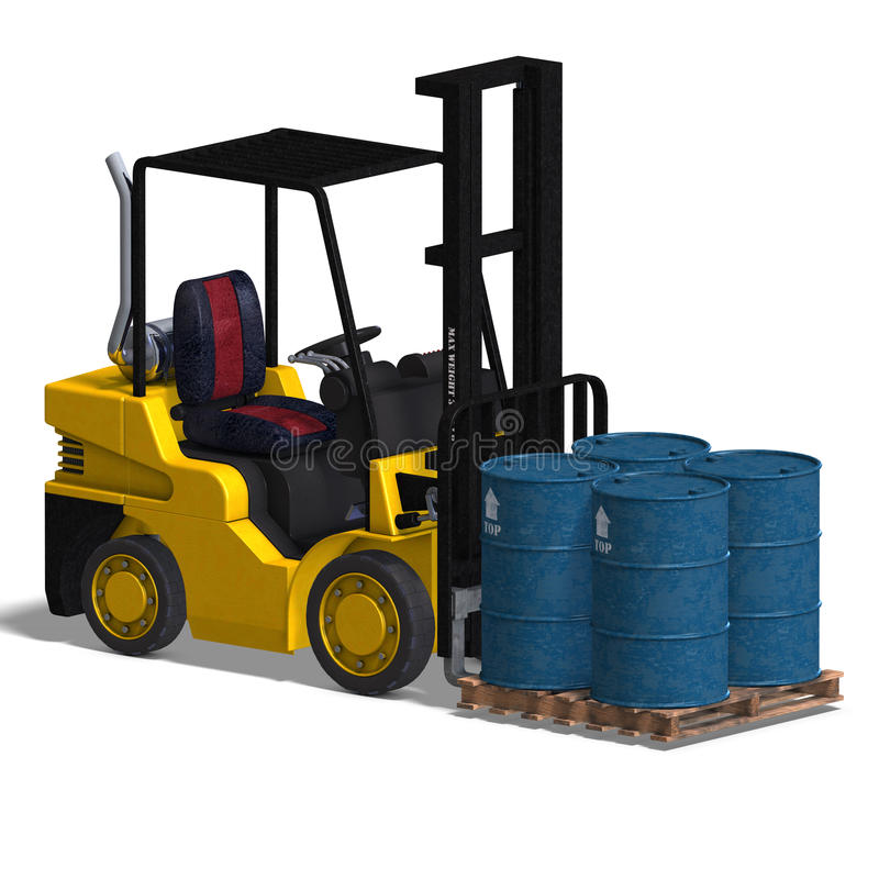 Free Forklift Royalty Free Stock Photos - 9637758