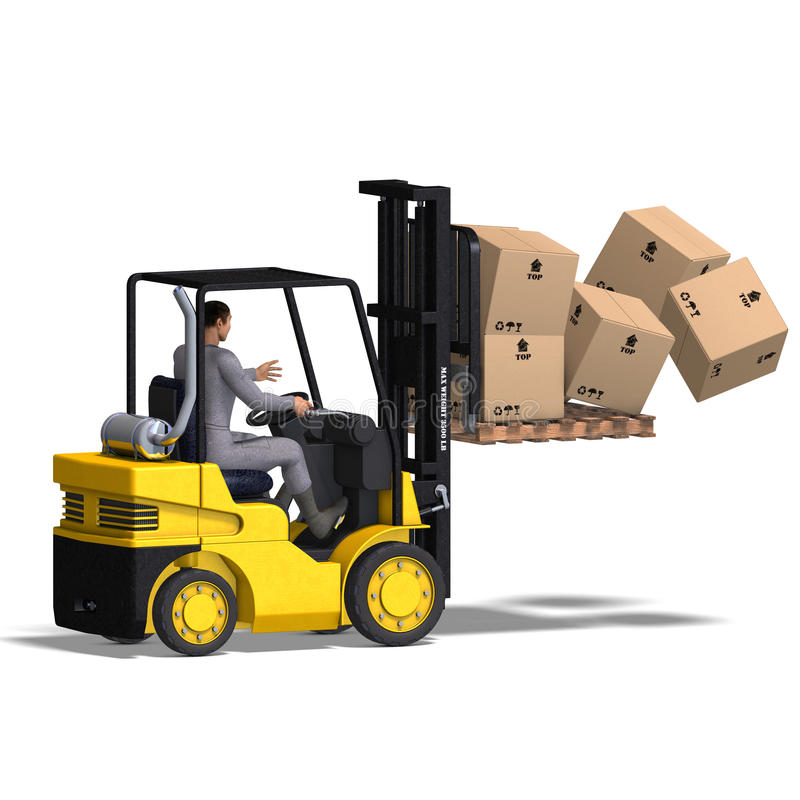 Free Forklift Stock Photography - 9838172