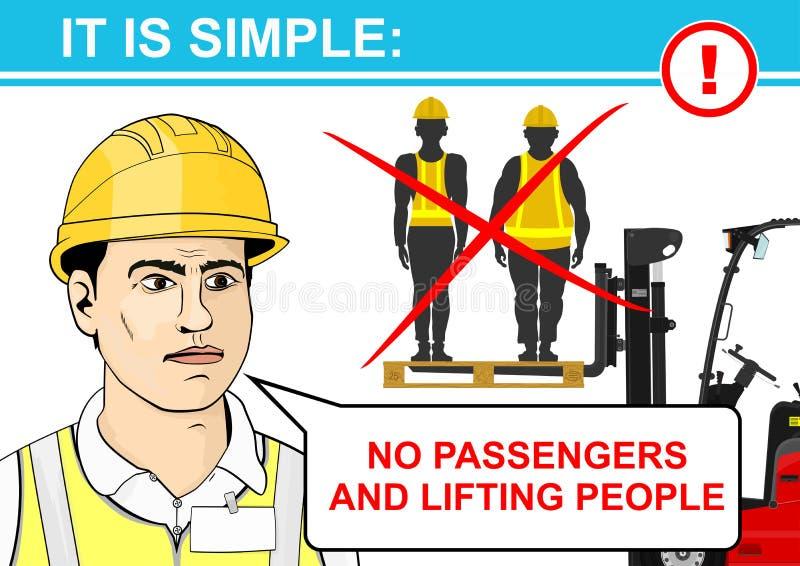 Forklift bezpieczeństwo royalty ilustracja