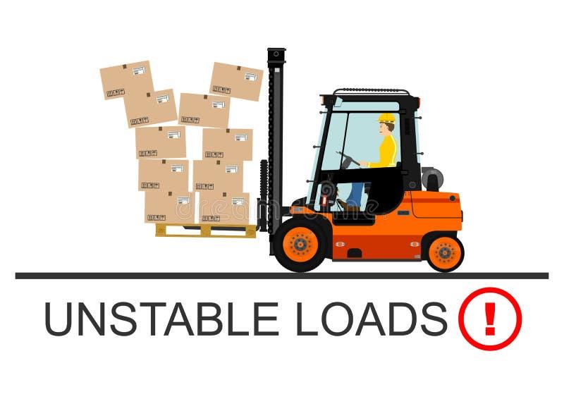 Forklift bezpieczeństwo wektor ilustracja wektor