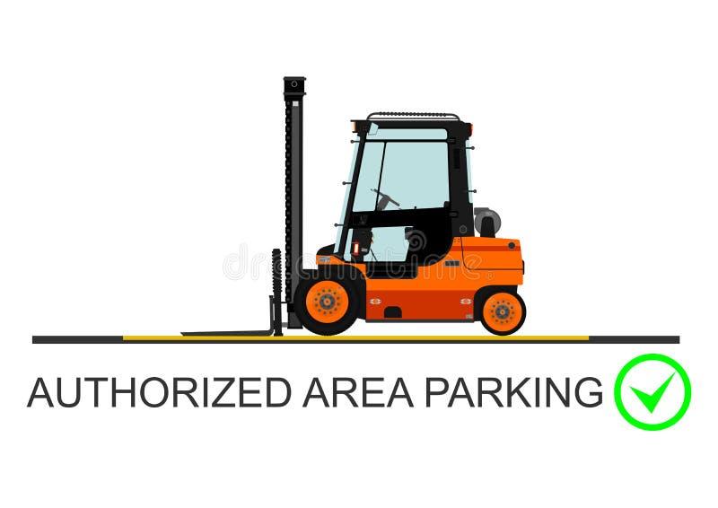 Forklift bezpieczeństwo wektor royalty ilustracja