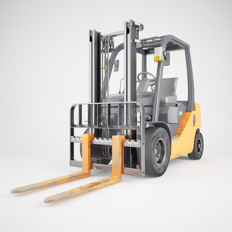 Forklift ciężarówka na białym tle fotografia stock
