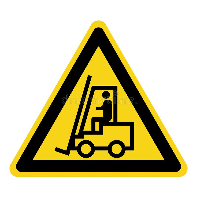 Forklift ciężarówki znak royalty ilustracja